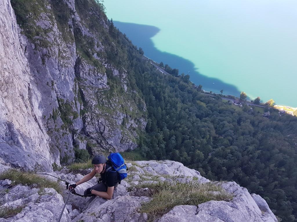 Klettersteig Mahdlgupf : Attersee klettersteig mahdlgupf saisoneröffnung