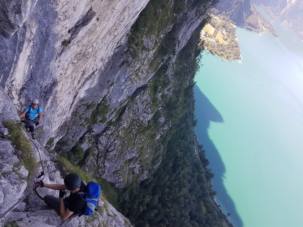 Klettersteig Attersee : Attersee klettersteig